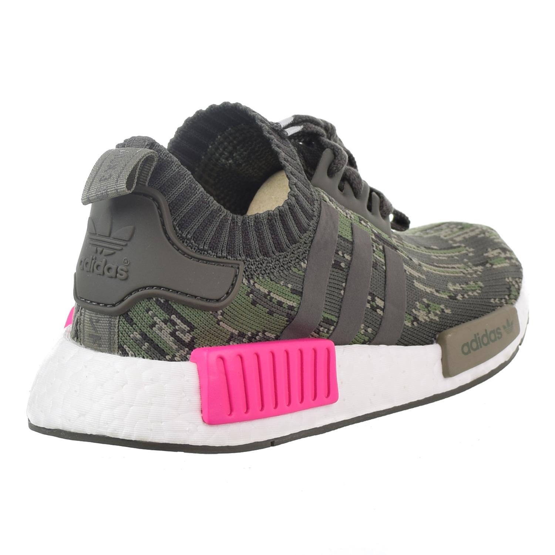 1eea6fda568ae Adidas NMD R1 Primeknit Men s Big Kids  Shoes Utility Grey Shock Pink bz0222
