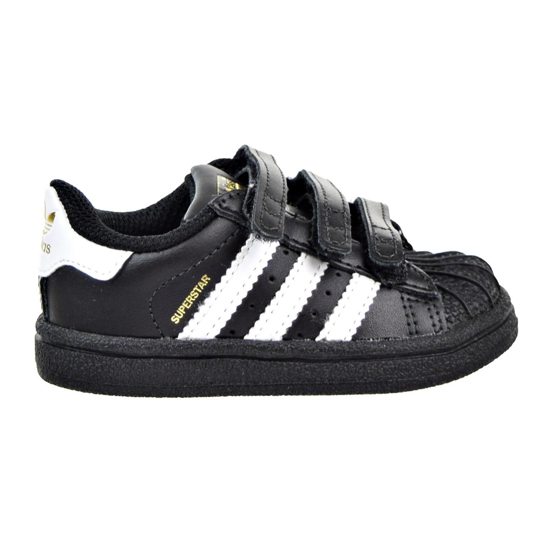 Adidas Superstar CF Infants-Toddlers shoes Black-White bz0419 | eBay