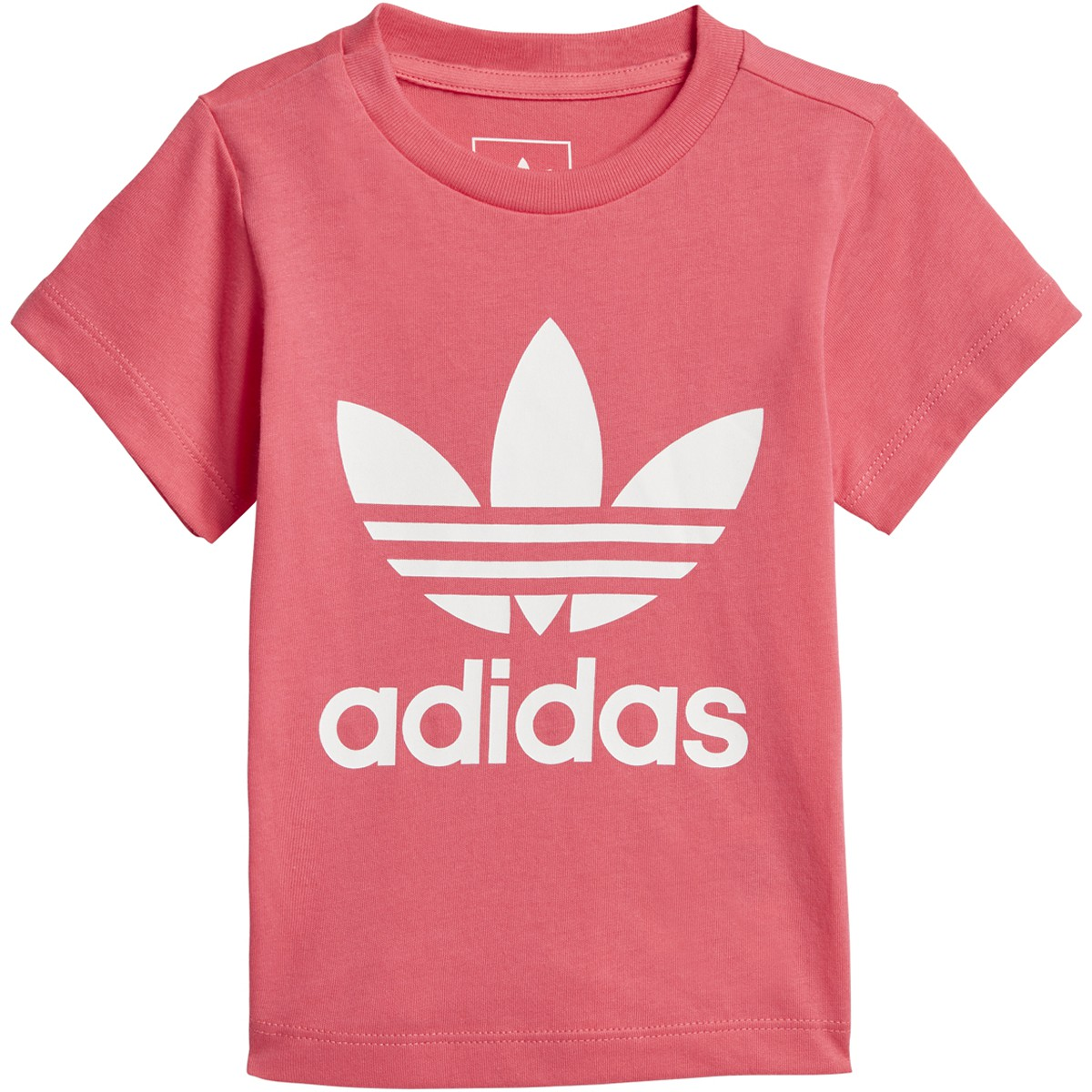 Adidas Originals Baby Girls Trefoil Tee Real Pink-White CE4317   eBay