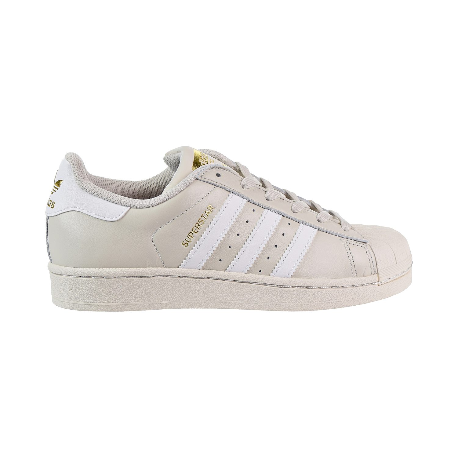 size 40 1953e 09d63 Details about Adidas Superstar Big Kids  Shoes Talc White Gold CG2943