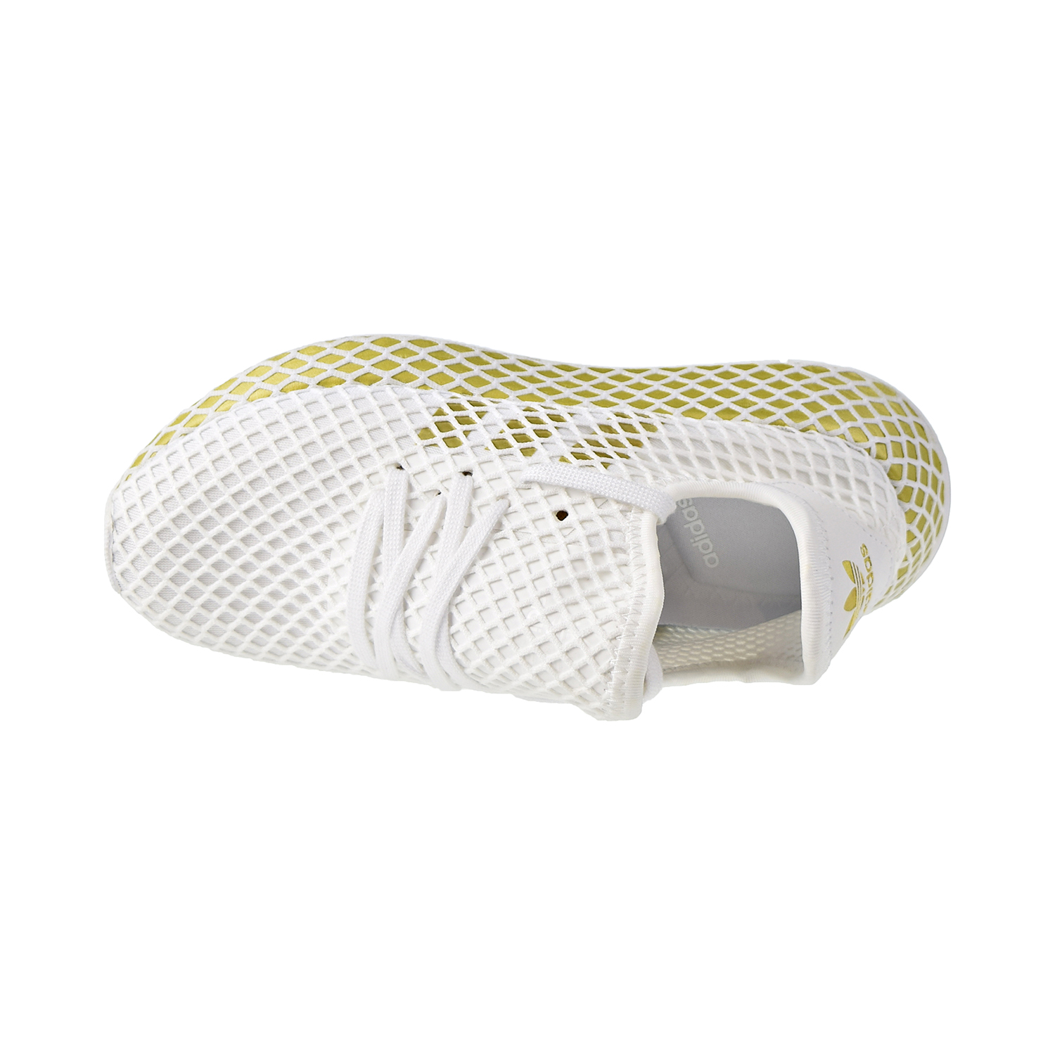 Details about Adidas Deerupt Runner Womens Shoes Footwear White/Gold  Metallic/White CG6087