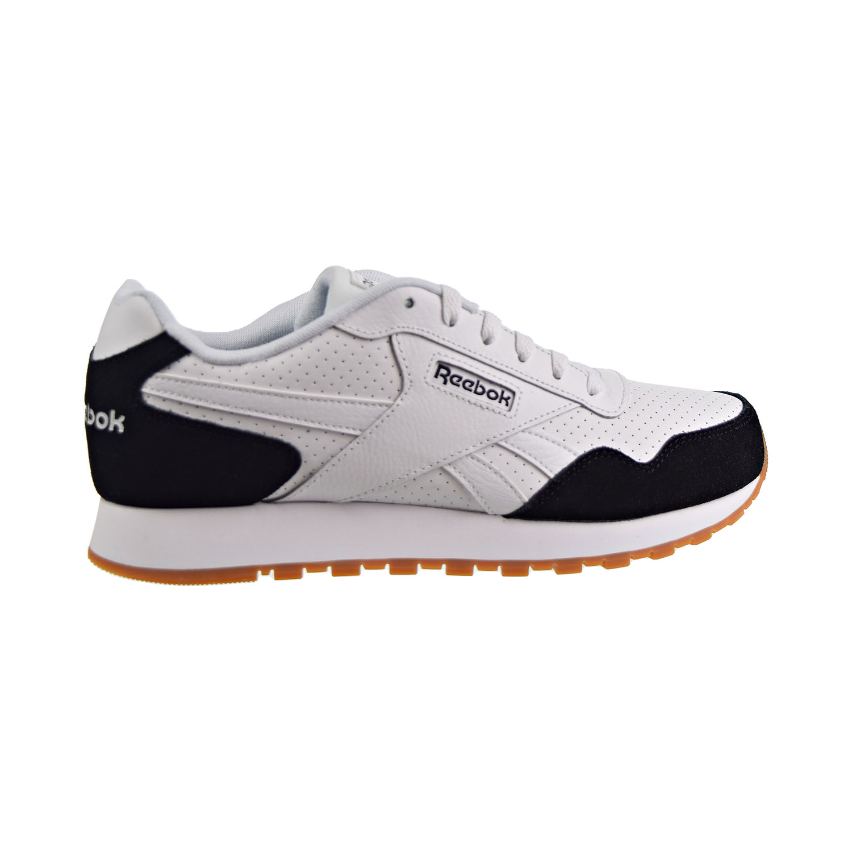 Reebok Mens Classic Harman Run White//Heritage Navy//Emerald Running Shoes Size