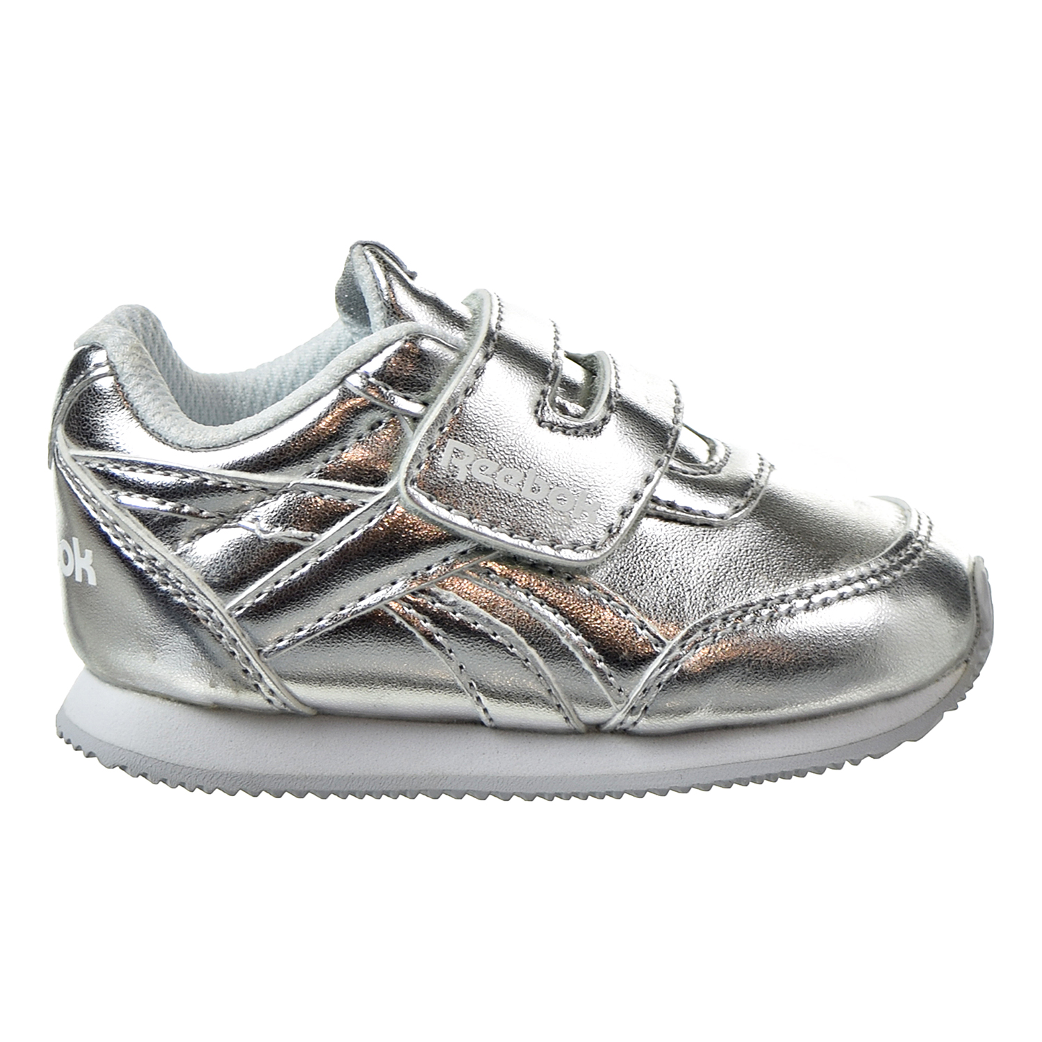 60f39d9507 Details about Reebok Royal Classic Toddler's Jogger 2.0 KC Shoes Silver  Metallic/White CN1345