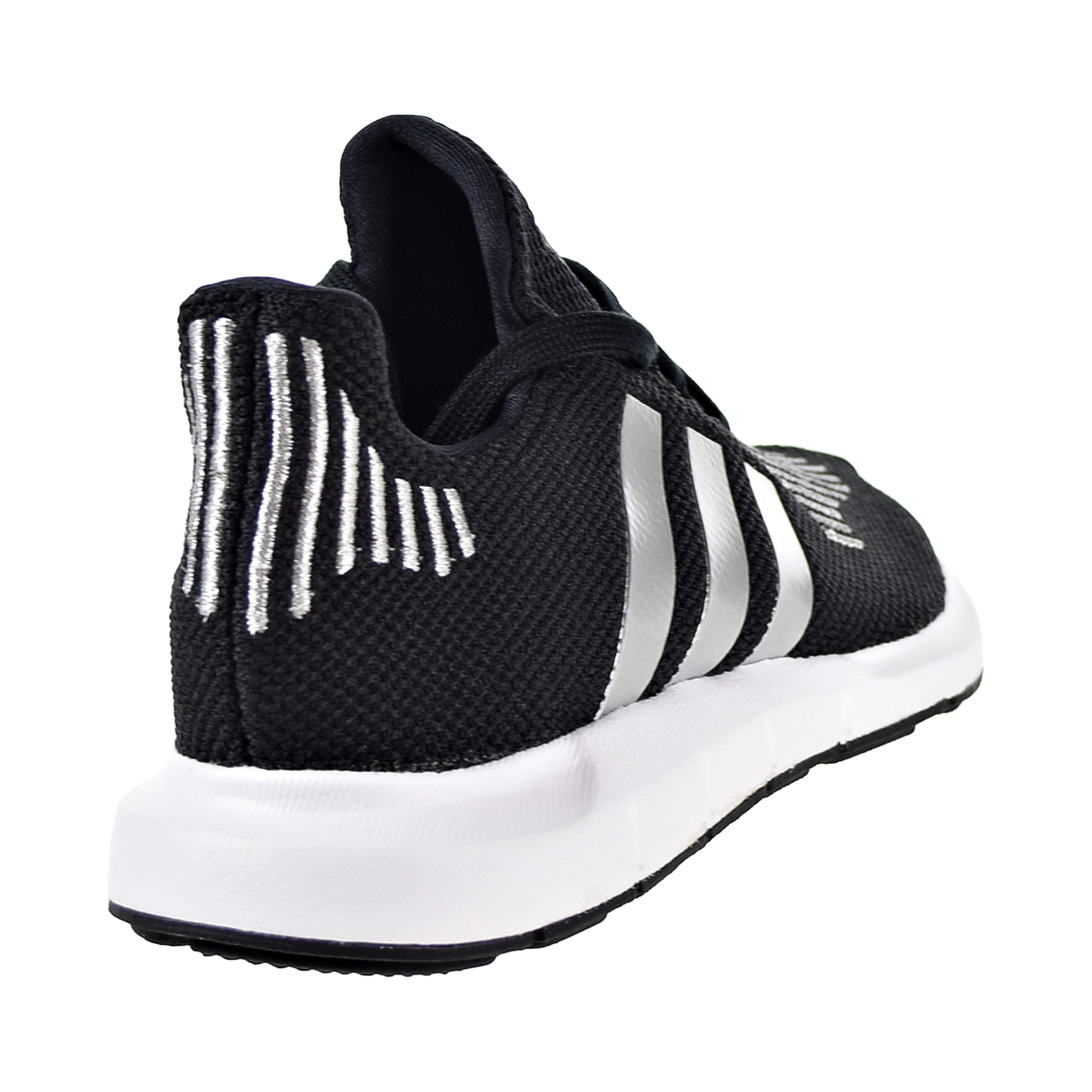 Adidas Swift Run Big Kids  Shoes Core Black Silver Metallic Footwear White  cq2597 263a2a8ad28a4