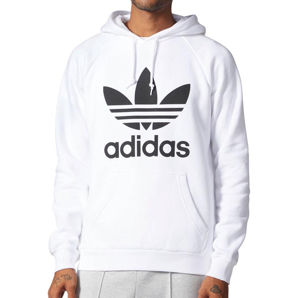 Details about Adidas Originals Trefoil Men's Pullover Hoodie Mist Sun White cw1243