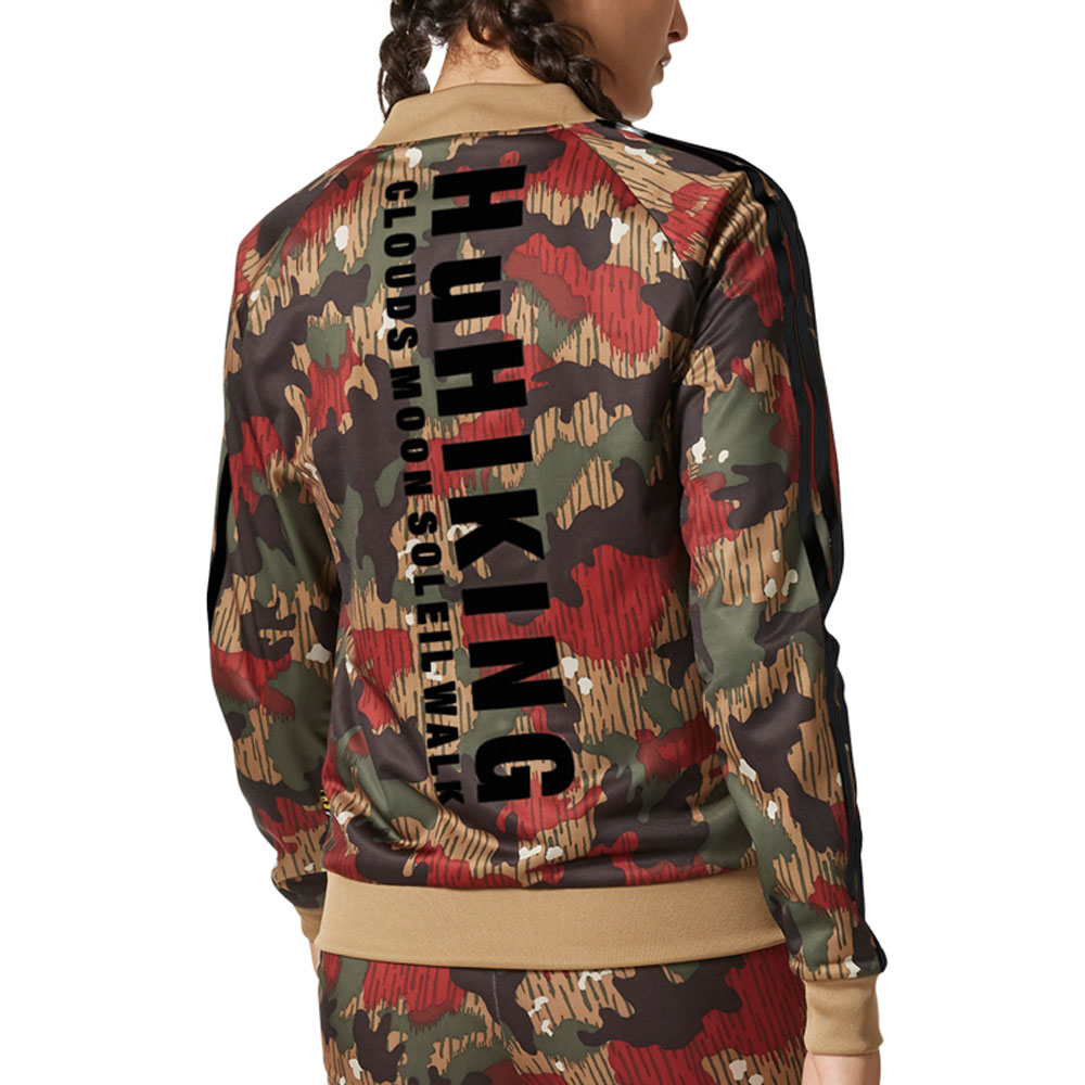 cac04bd0566b8 Adidas Originals Pharrell Superstar Women s Track Top Swiss Camo cy7522
