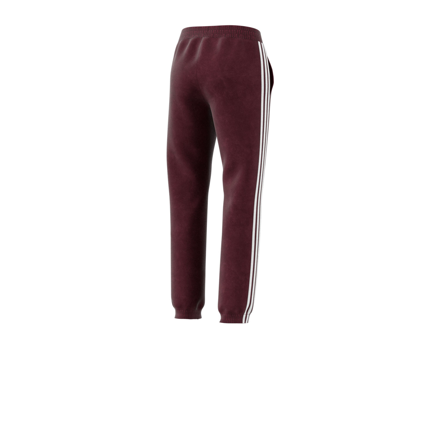 Details about Adidas Originals 3 Stripes Women's Cuffed Velour Jogger Pants Maroon dh3114