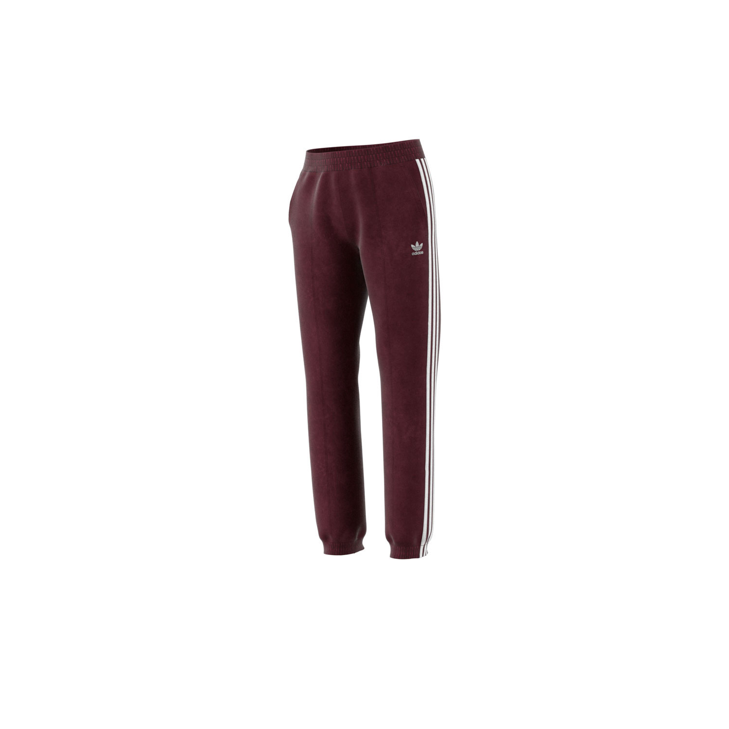 Details about Adidas Originals 3-Stripes Women's Cuffed Velour Jogger Pants  Maroon dh3114