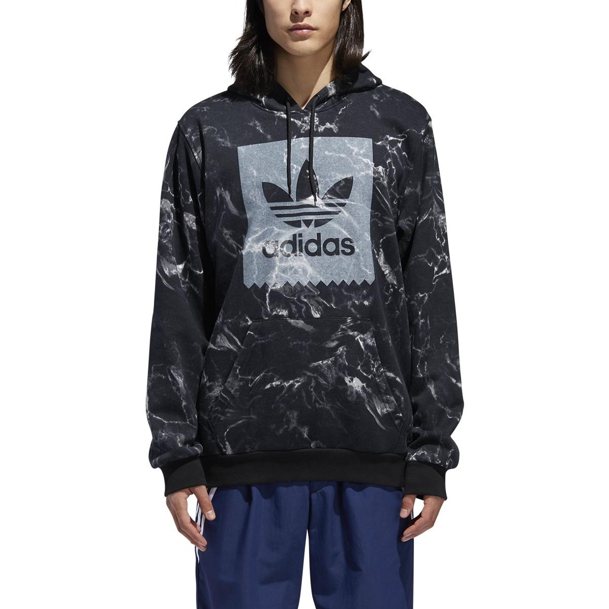 Adidas Men S Other Sports Marble Print Hoodie Black White Dh3922 Ebay