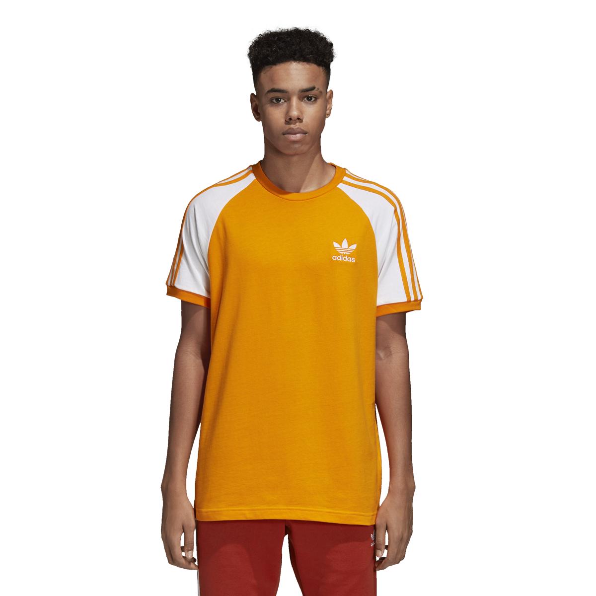 12cc5af05 Adidas Men's Originals 3-Stripes Tee Bright Orange DH5809   eBay