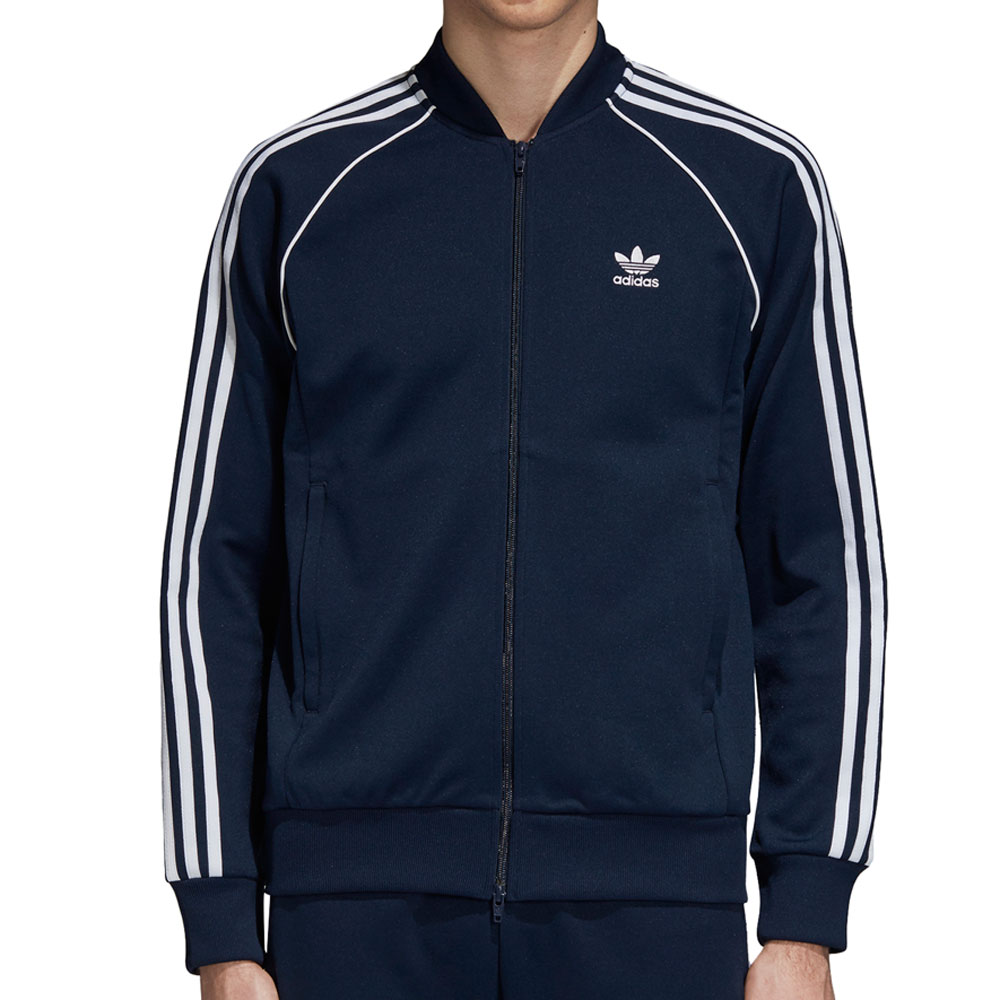 Adidas Originals Superstar Men s Athletic Track Jacket Collegiate Navy White  dh5822 090aa6da4