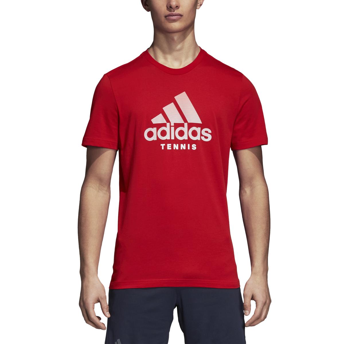 adidas tennis logo t shirt
