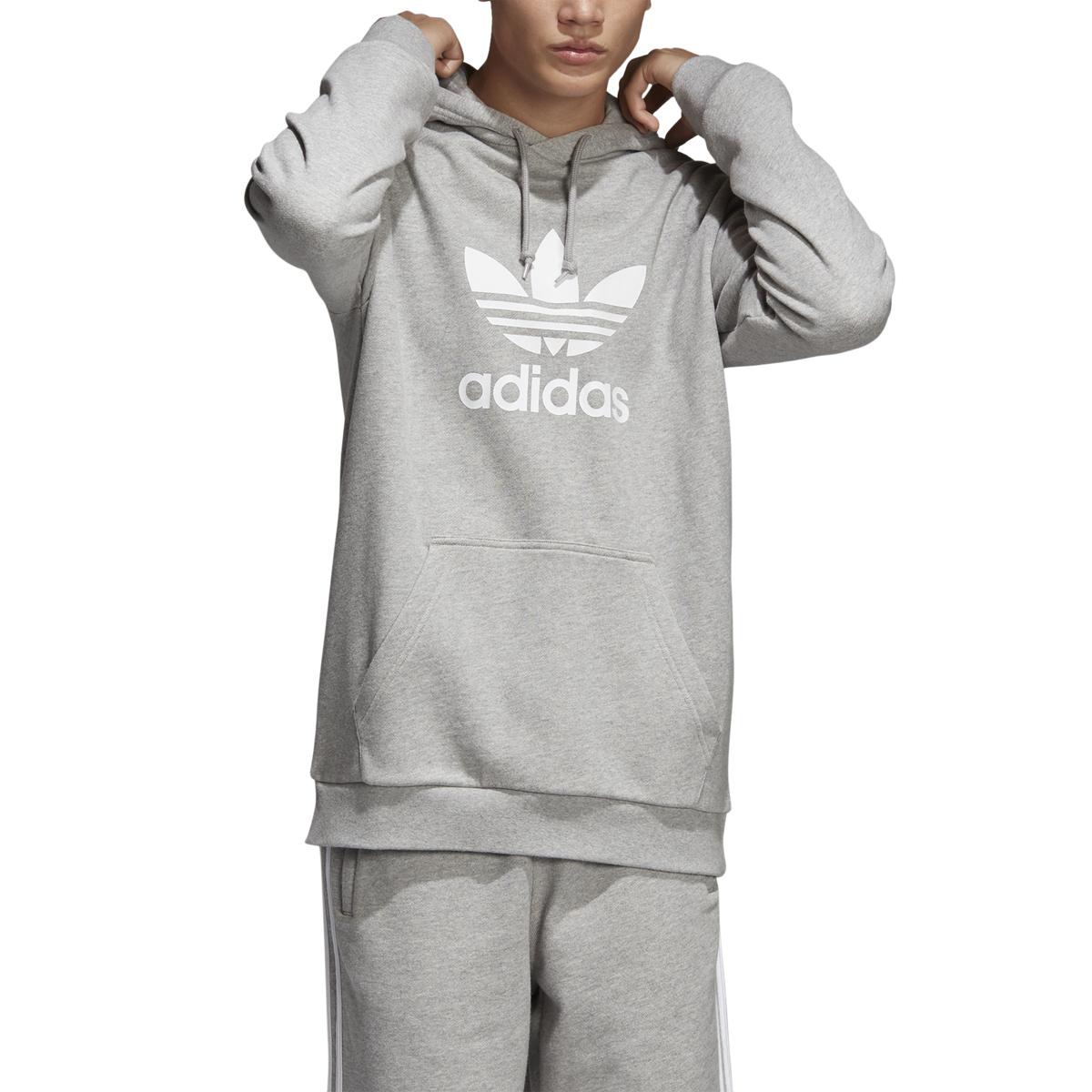 Adidas Trefoil Hoodie Grey Heather