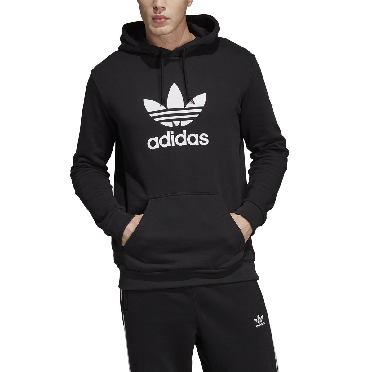 adidas Men's Trefoil Hoodie Medium Grey Heather, 2X Large