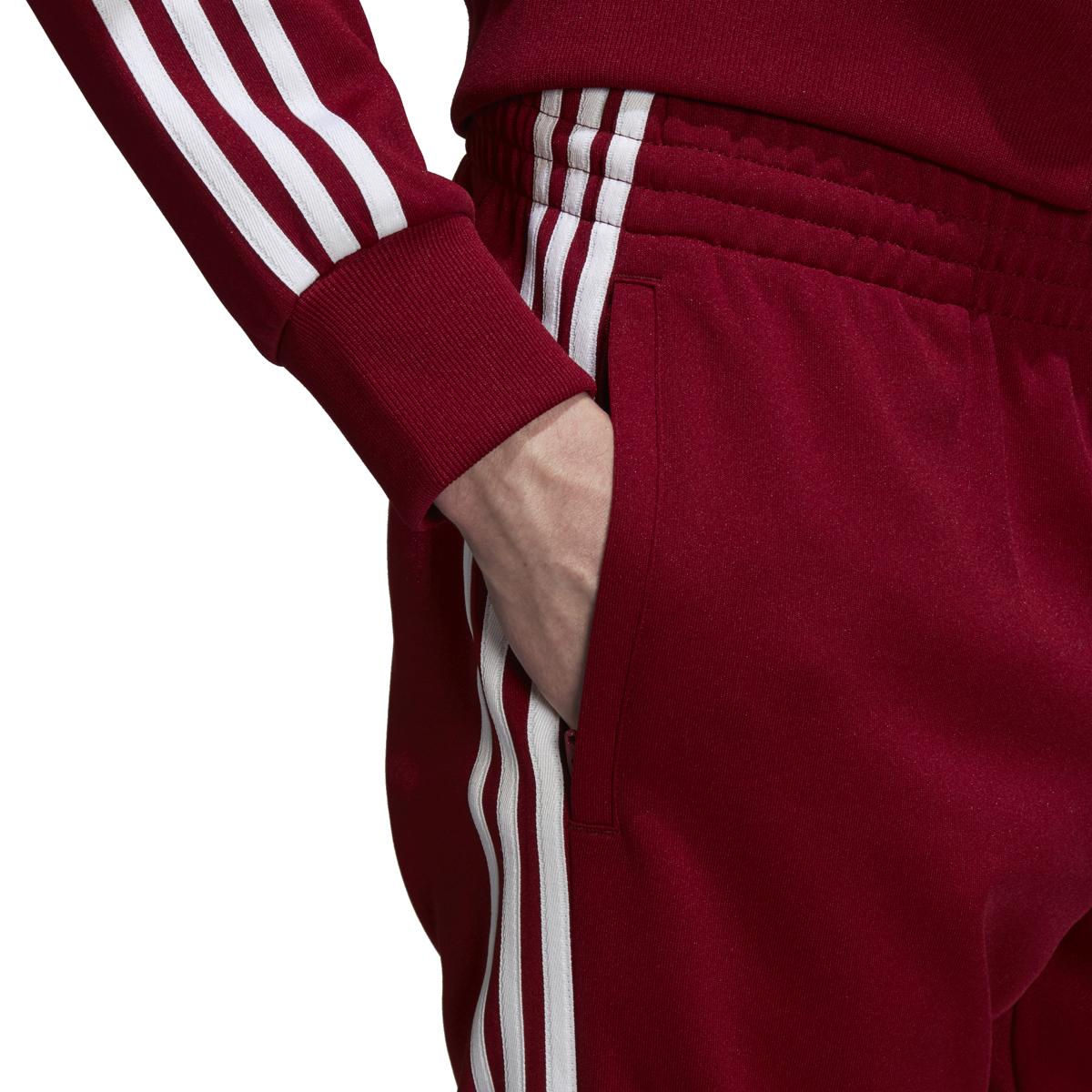 da9f86b64 Adidas Men's Originals SST Track Pants Collegiate Burgundy DU1348   eBay