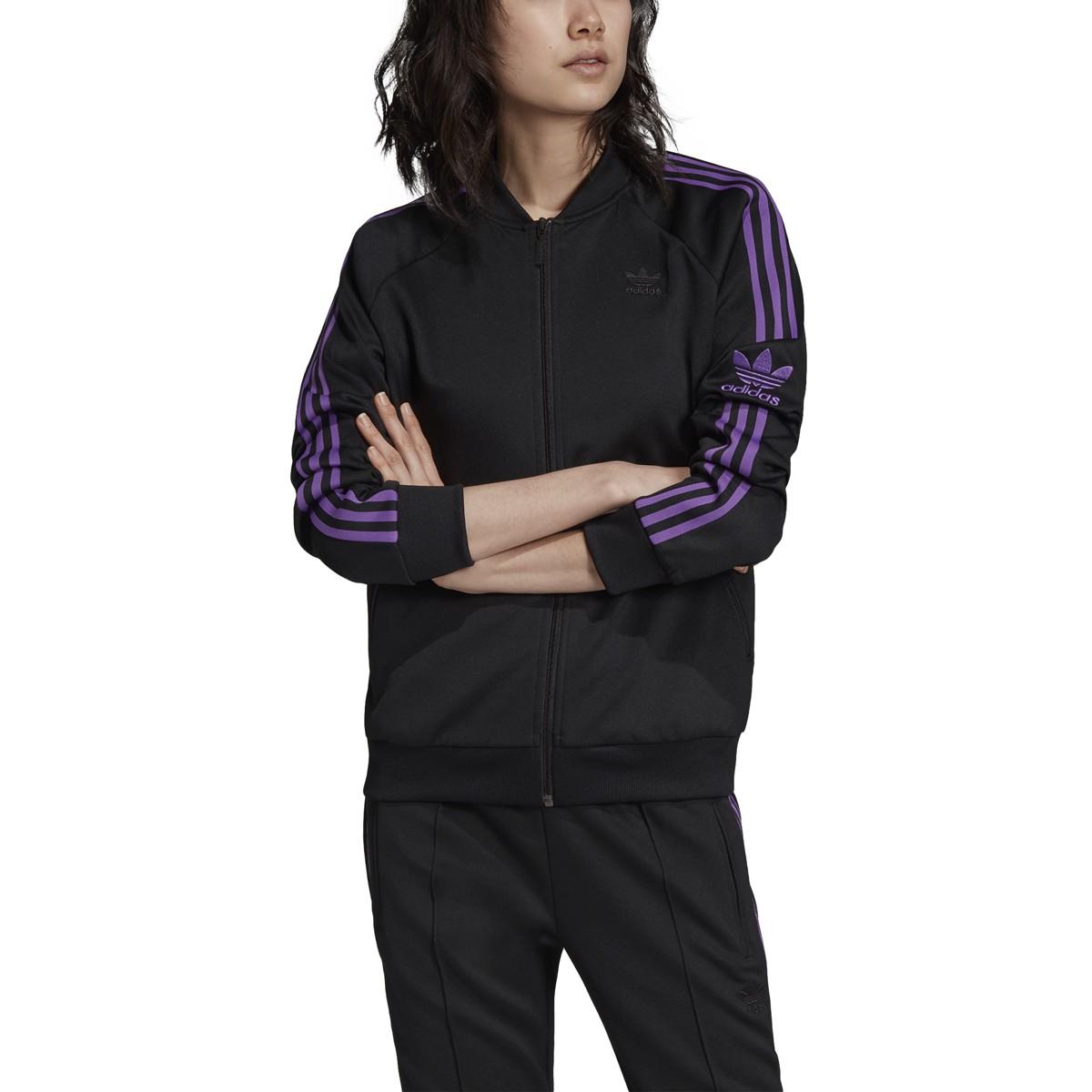 cielo Acercarse Doctrina  Adidas Originals Superstar Womens Track Jacket Black dv0132 | eBay