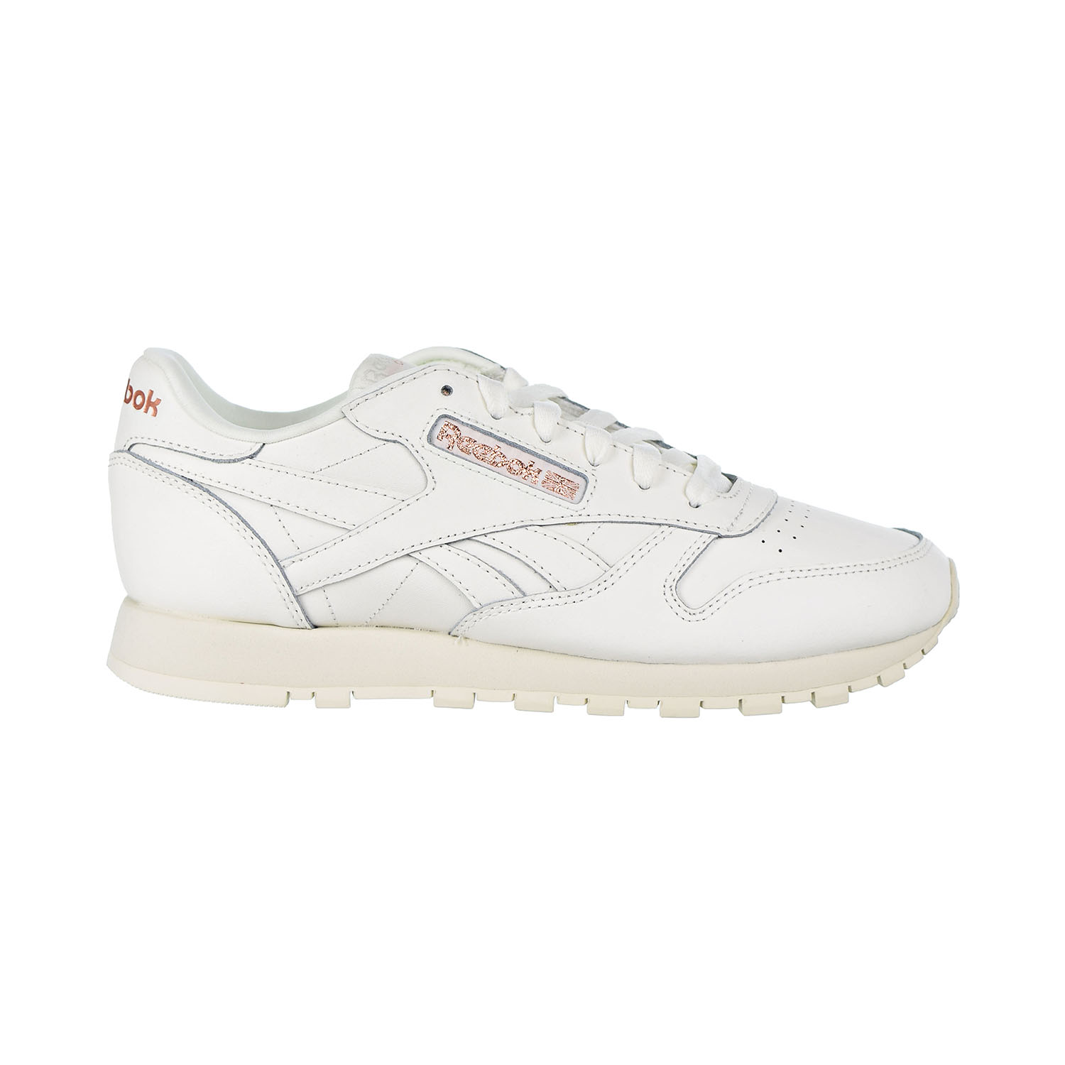 74548b017bf Reebok Classic Leather Women s Shoes Chalk Rose Gold Paper White dv3762