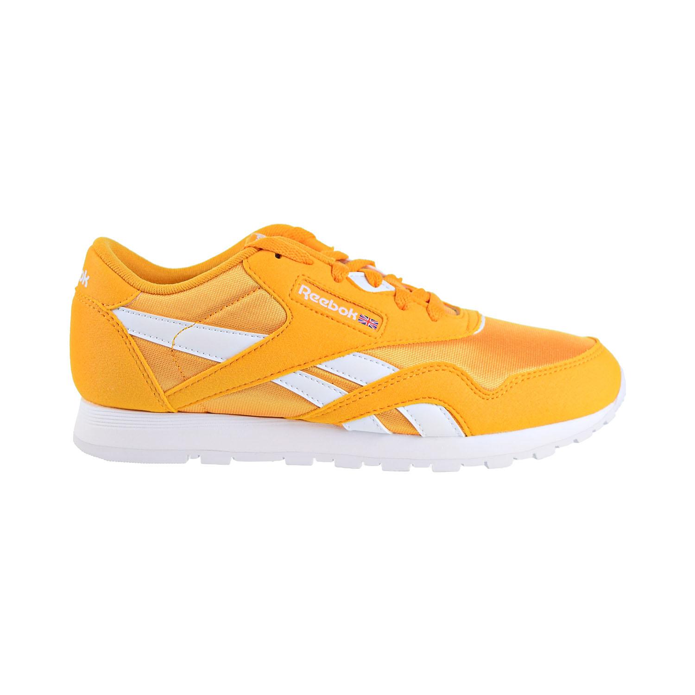 c50bd71045 Details about Reebok Classic Nylon Mu Junior Big Kids Shoes Trek Gold/White  dv4232