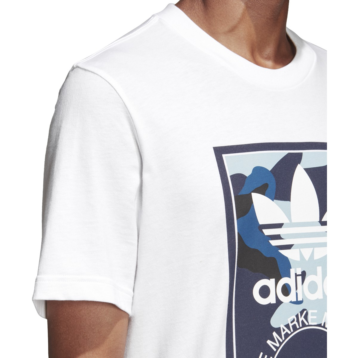 3c038993a Adidas Men's Originals Camouflage Tongue Label Tee White DX3662 | eBay