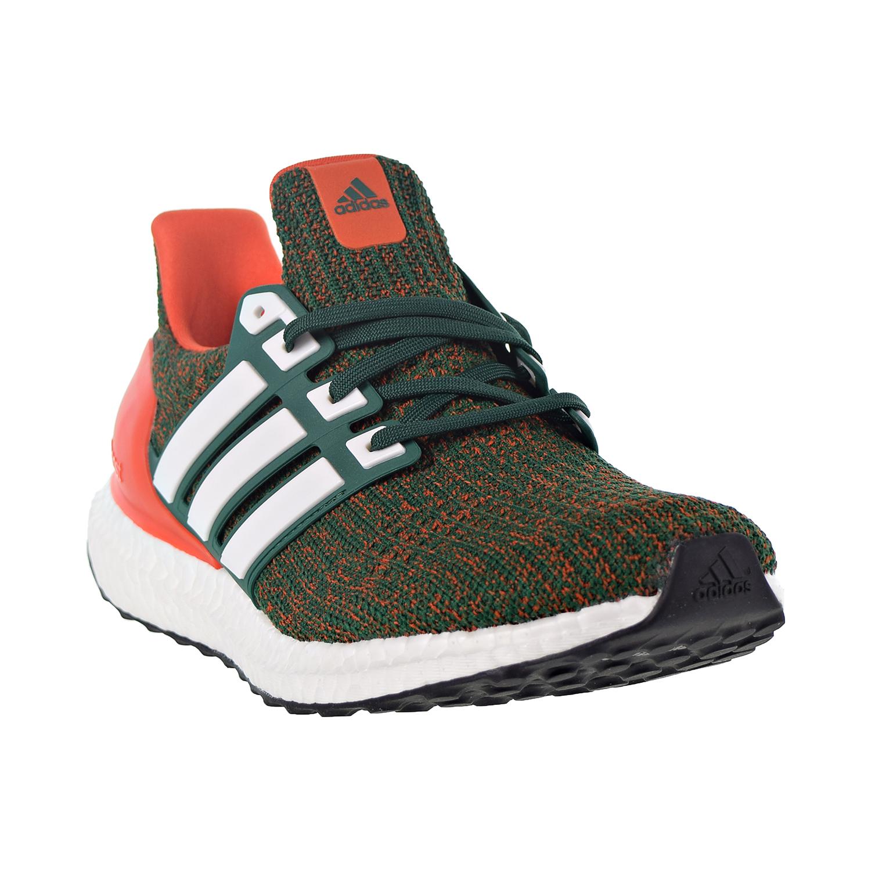 b0e8a1bf8ee0a Adidas Ultraboost Men s Shoes Dark Green Cloud White Collegiate Orange  ee3702