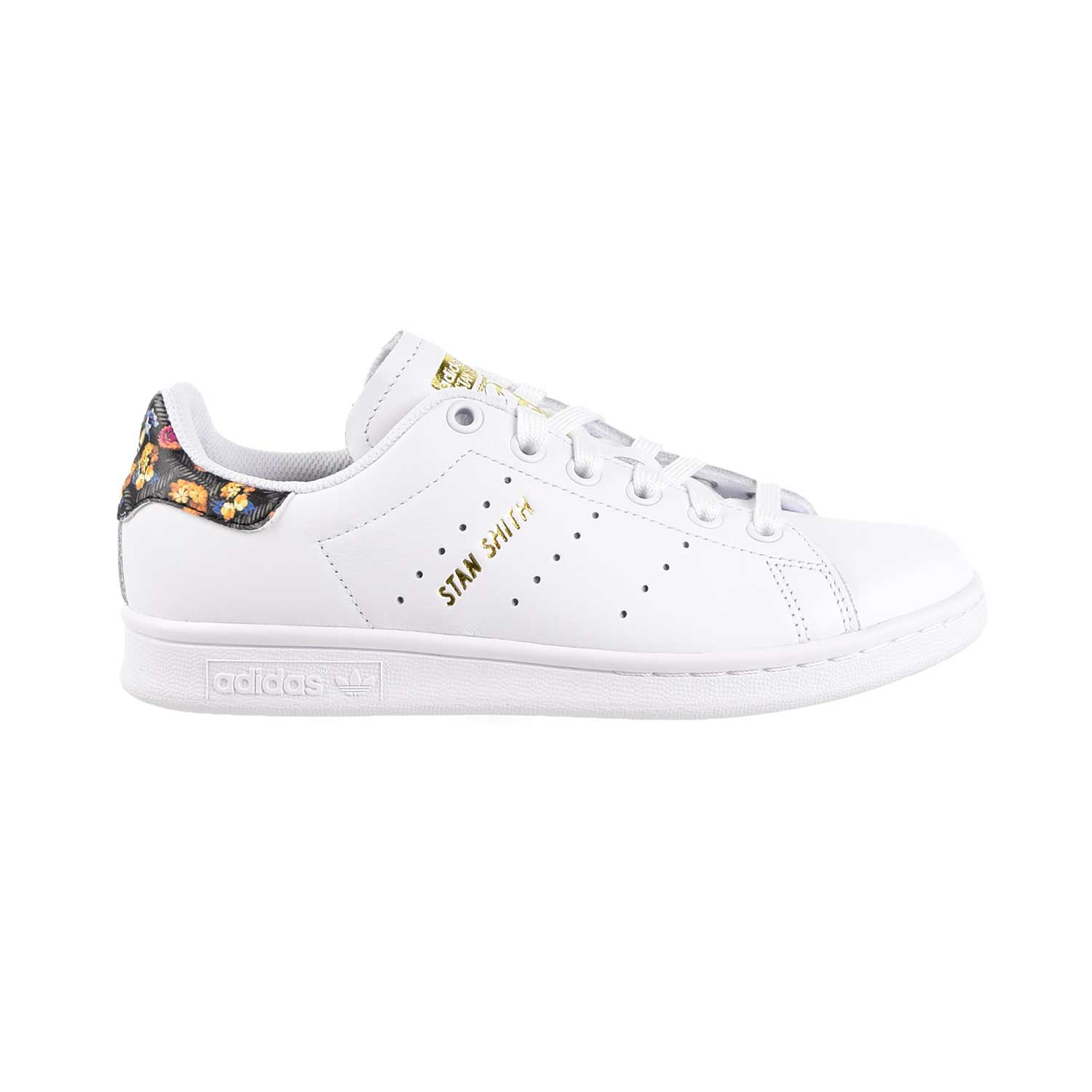 Details about Adidas Stan Smith Womens Shoes Floral Footwear White Gold EF1481