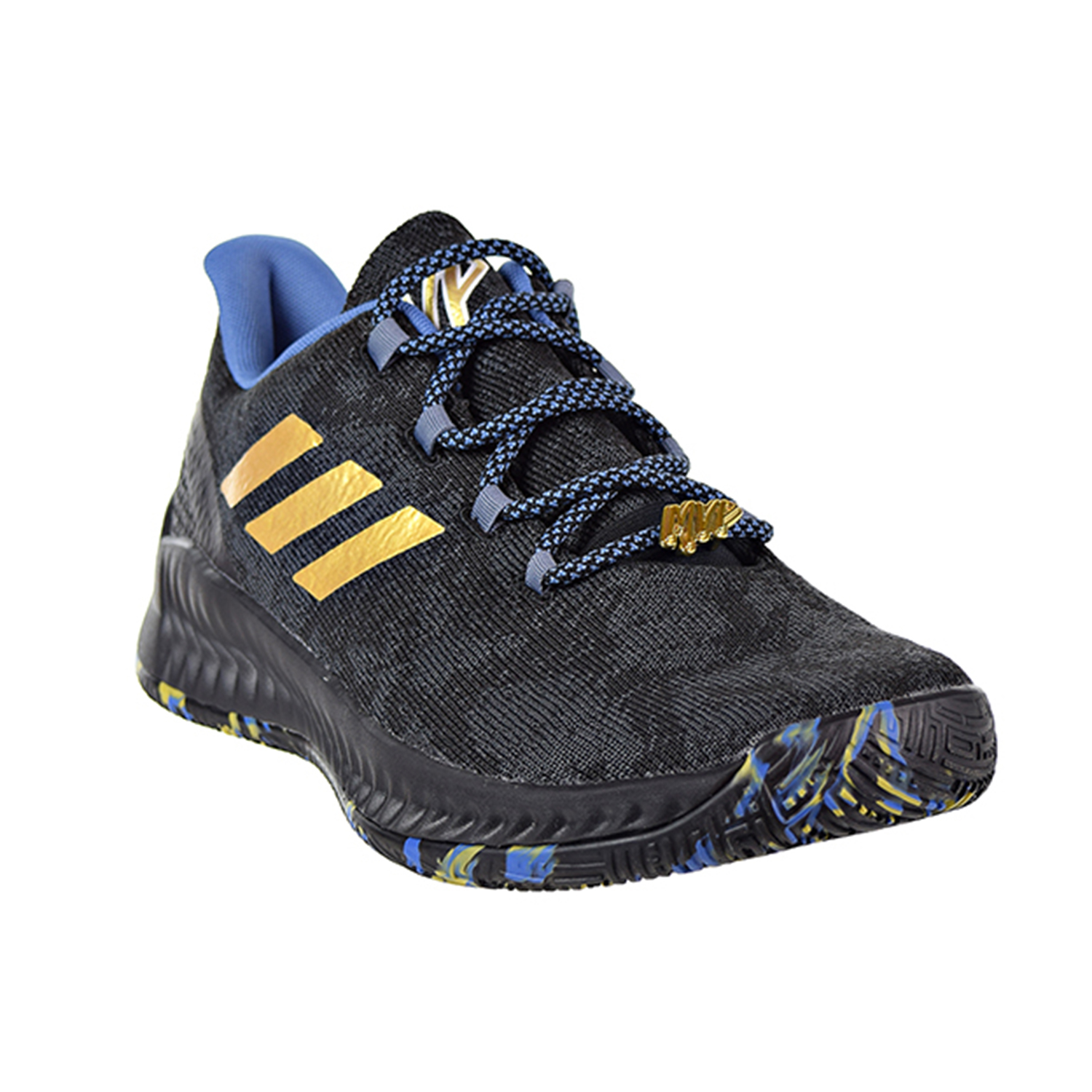 62db798859b2 Adidas Harden B E X MVP Men s Shoes Core Black Metallic Gold Steel f36813