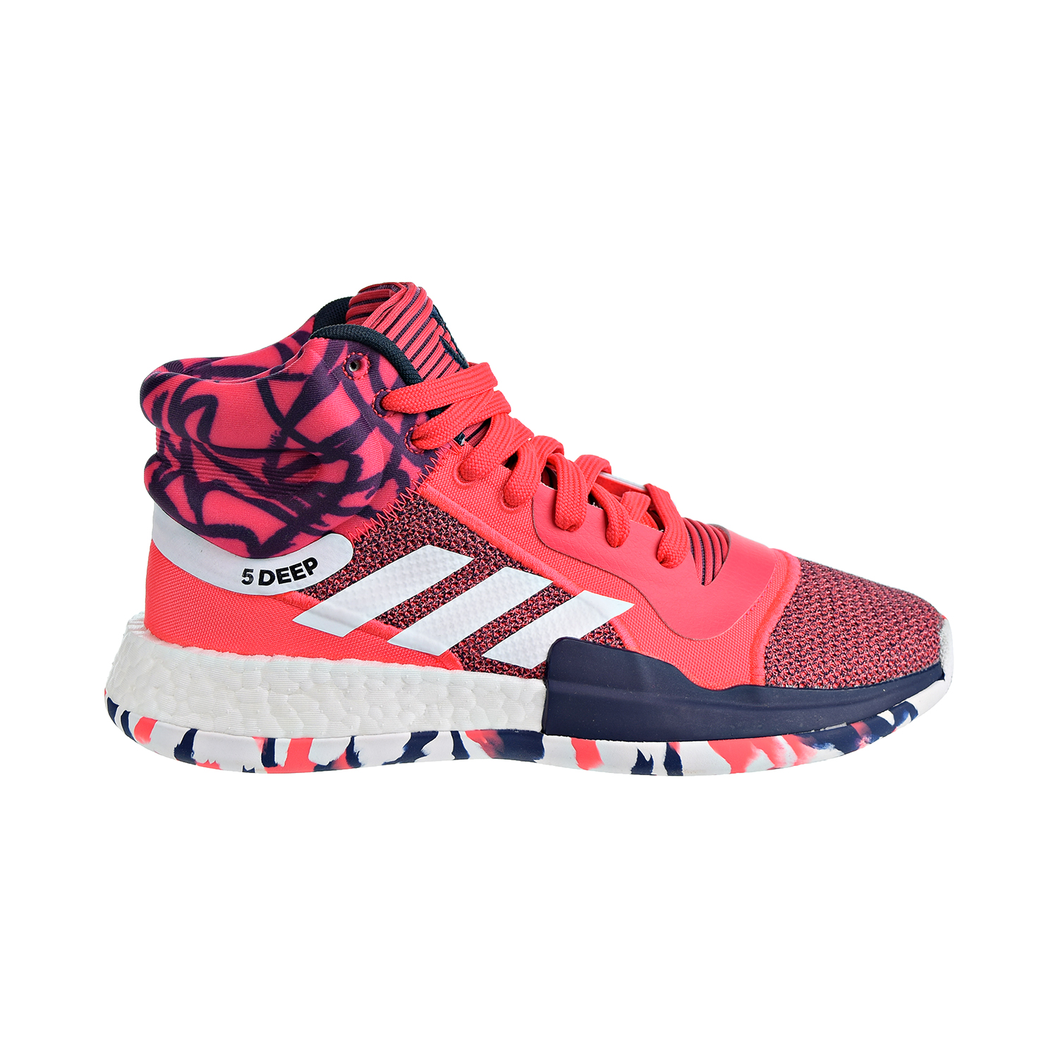 d82bf7f6dc82 Details about Adidas Marquee Boost Men s Basketball Shoes Shock Red White Navy  G27737