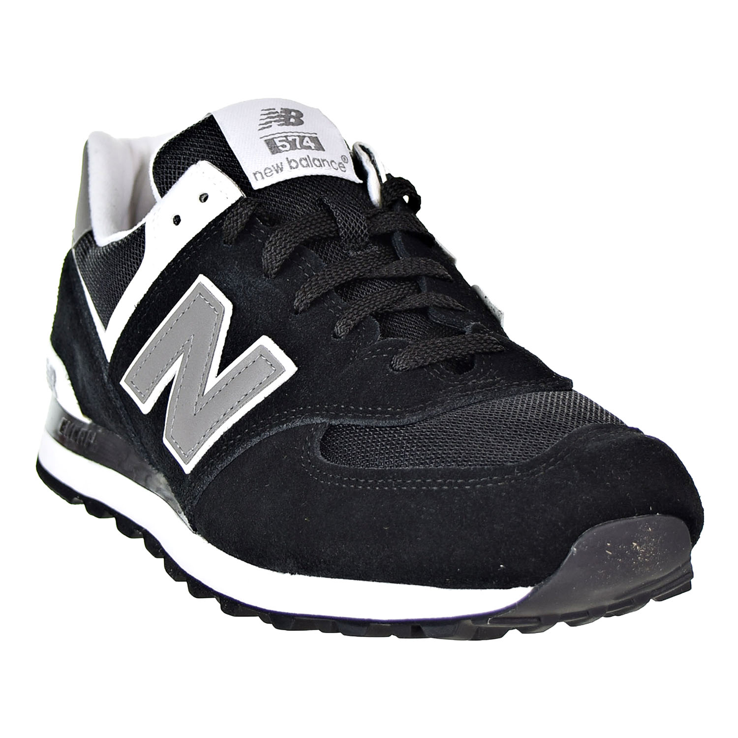 super popular eeb43 fadd6 Details about New Balance 574 Men's Shoes Black/Grey/White M574-SKW