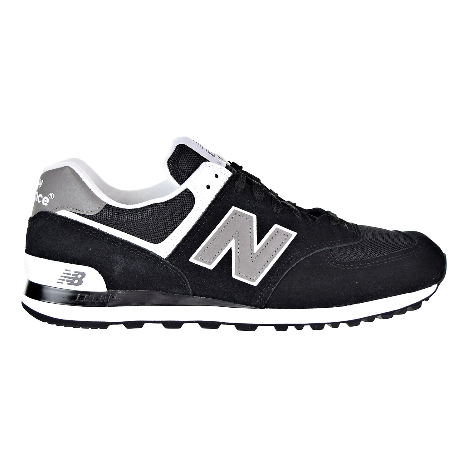 Details about New Balance 574 Men's Shoes Black Grey White M574 SKW