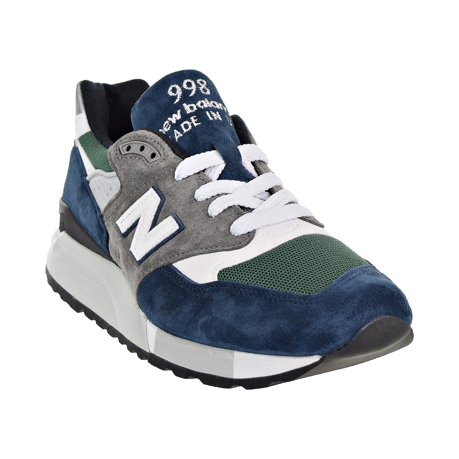 new product 4b7f8 9bef4 New Balance 998 Made In USA Men s Shoes Navy Green Grey m998-nl