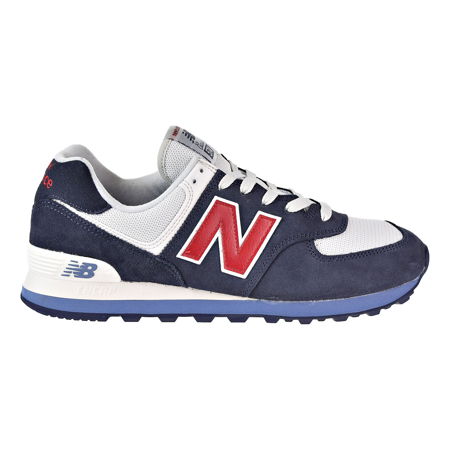 huge discount 97b28 e9875 Details about New Balance 574 Core Plus Men's Shoes Red/Blue/White ML574ESC