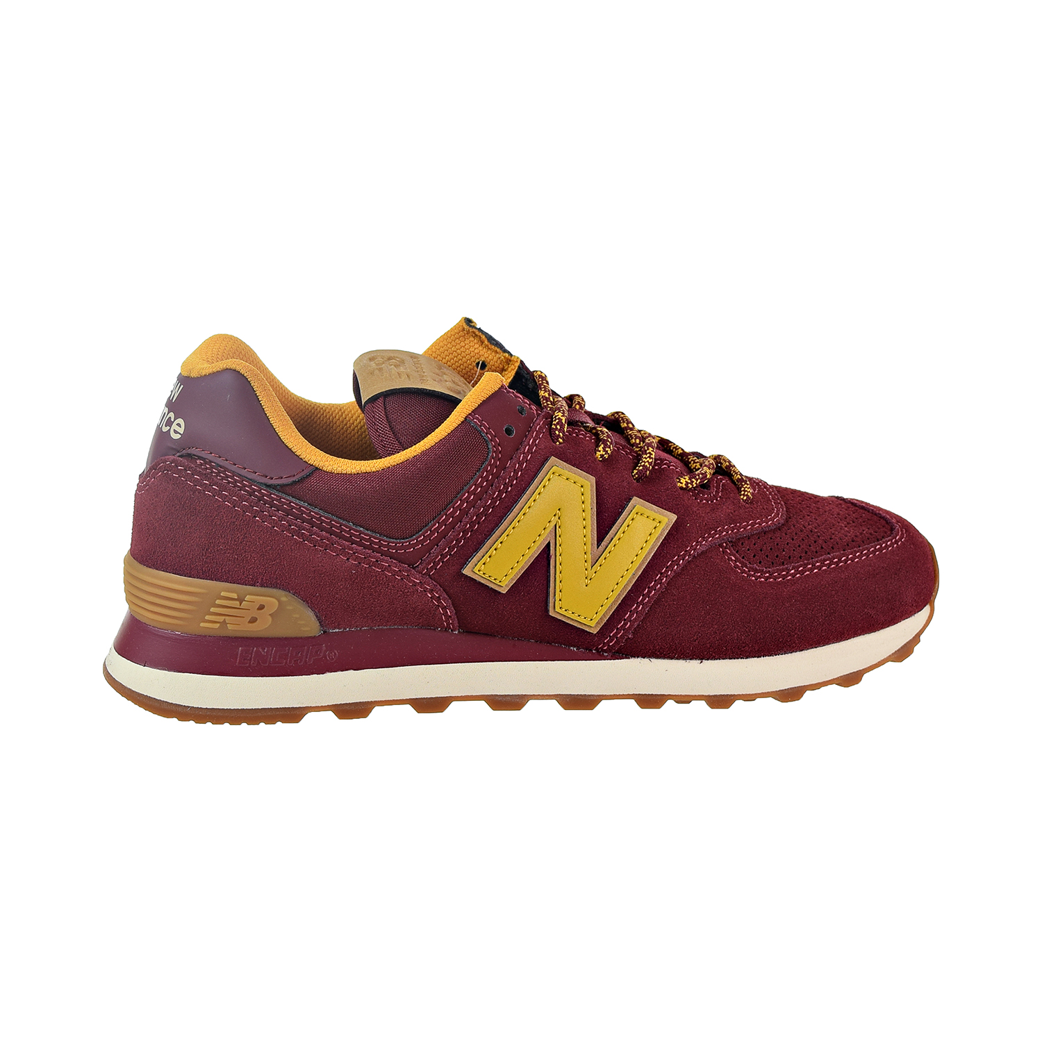 sports shoes 06fd1 a602c New Balance 574 Men's Shoes Mercury Red/Yellow ML574-OTC | eBay