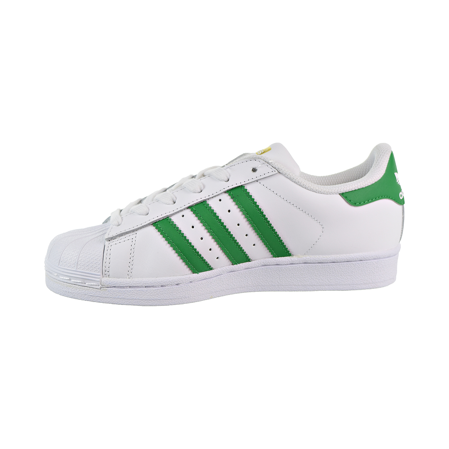 pretty nice 827ce 64207 Adidas Superstar Big Kids  Shoes Cloud White Green Gold Metallic s81017