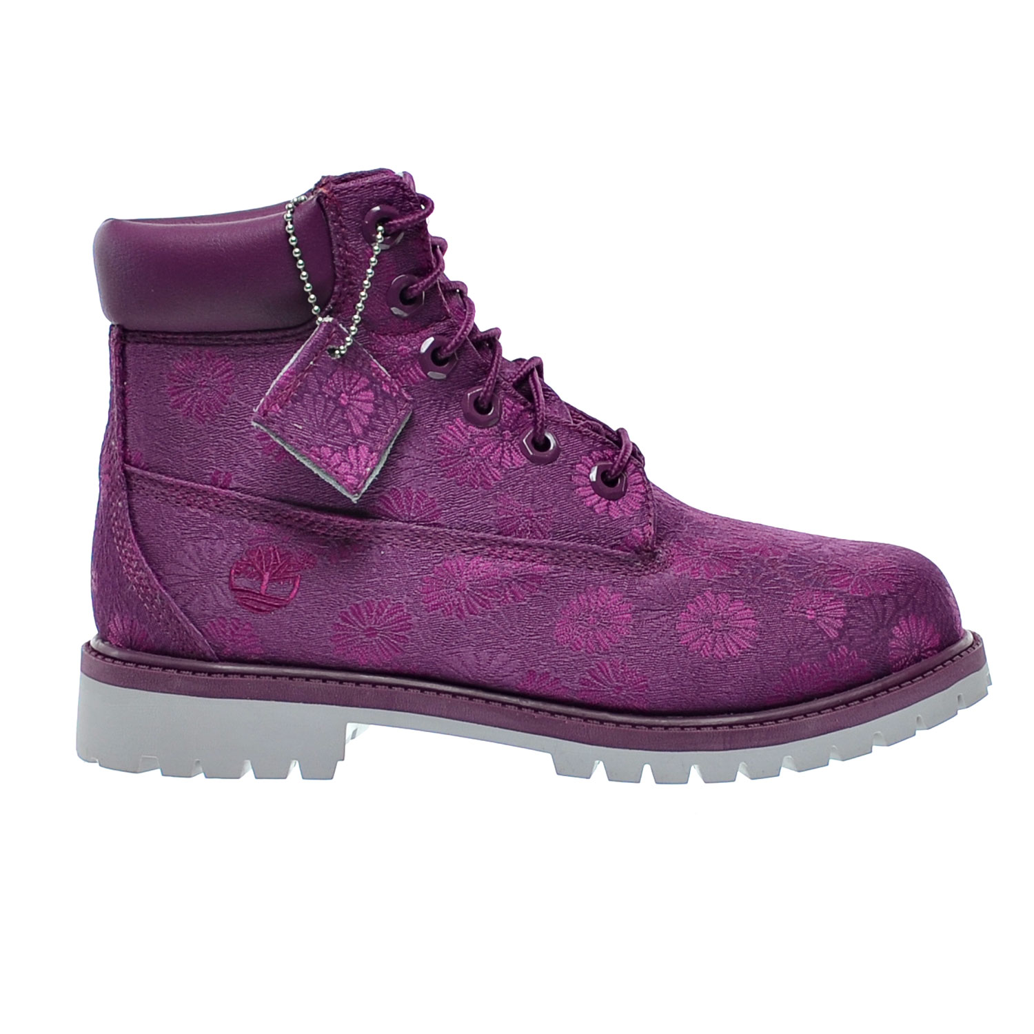 Details about Timberland 6 Inch Classic Big Kids Boots Magenta Floral tb0a174b