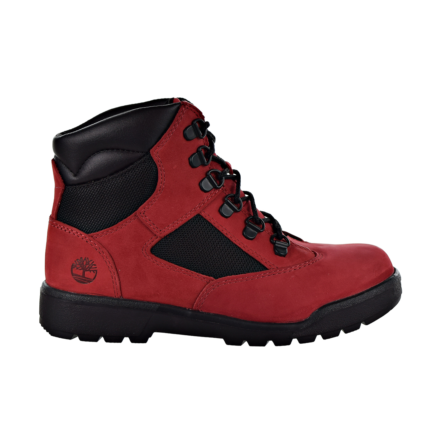 Field Boot Big Kids' Shoes Red-Black