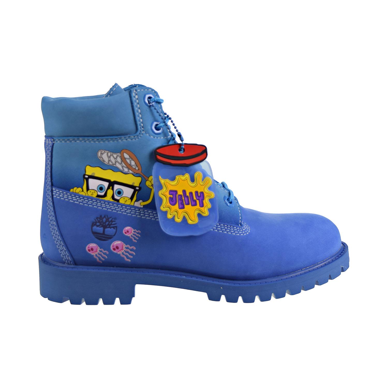 Details about Timberland X SpongeBob 6' Inch Premium WP Boots Big Kids' Jellyfish BlueTB0A22M7