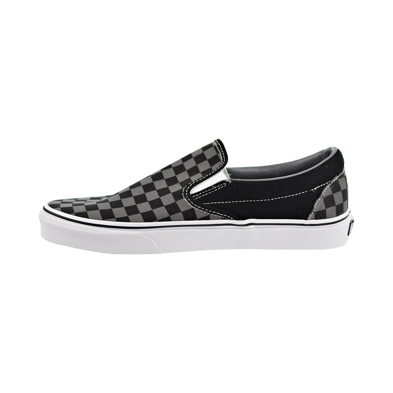 Détails sur Vans Classic Slip on Homme Chaussures NoirÉtain damier VN000EYE BPJ afficher le titre d'origine
