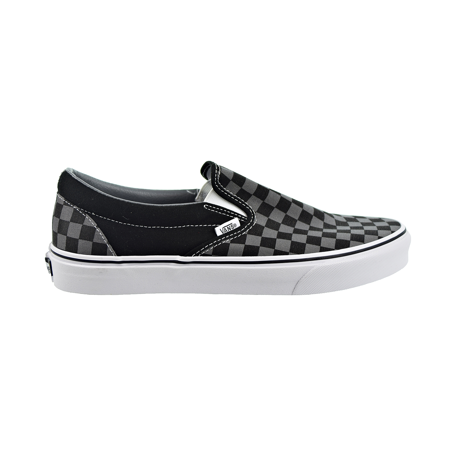 Details about Vans Classic Slip-On Mens Shoes Black-Pewter Checkerboard VN000EYE-BPJ