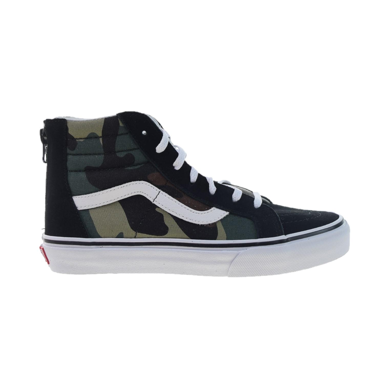 5e904346d3ec Details about Vans Sk-8 Hi Zip Big Kids  Shoes Black Woodland VN0A3276-NRA