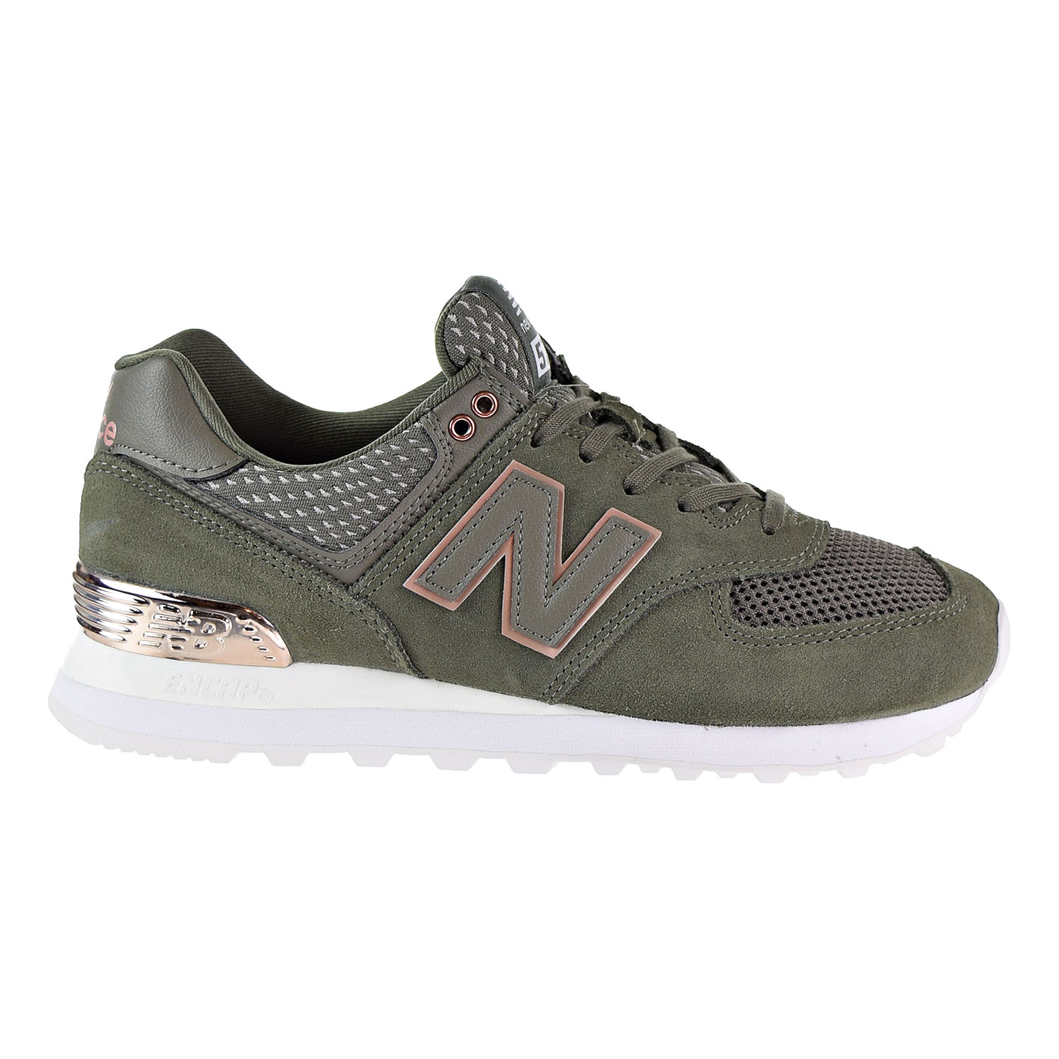 magasin en ligne a3122 f91fd Details about New Balance 574 All Day Rose Womens's Shoes Olive WL574FSD